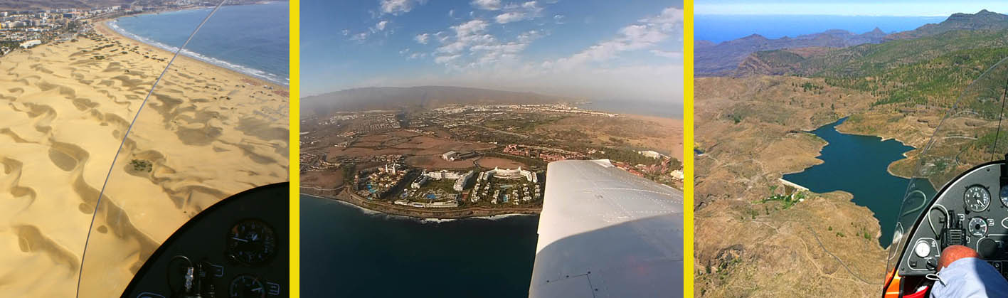 flying in Gran Canaria